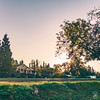 Good morning! (Jim Makos) Tags: house morning landscape outdoor sunrise greece countryside grass