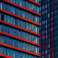 red&blue (Blende1.8) Tags: architecture architektur red blue rot blau windows fenster facade facades contemporary modern rotterdam skyscraper skyscrapers carstenheyer netherlands lnes lines linien sony alpha ilce7m2 a7ii a7m2 24240mm city urban square quadrat building