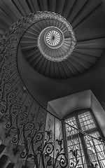 Just Enough Light (explored 6th Feb 2017) (devil=inside) Tags: queens house greenwich london tulip staircase sprial bw handphotography sony monochrome indoors architecture structure a77