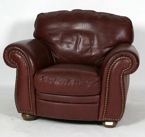 Leather Sofa & Club Chair w/Ottoman ($385.00)
