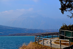 Lago di S. Croce (Stefania Bianco) Tags: like look lake water blue mountain sky amazing lago travel travelling nikon reflex paradise winter