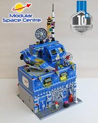 Modular Space Centre - 10th Anniversary Modular Building Series (sdrnet) Tags: lego modular space centre 10th anniversary edition