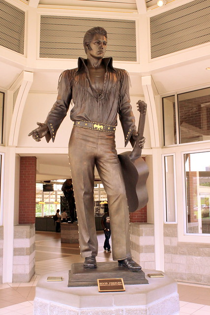 Elvis Presley Statue - Downtown Memphis Welcome Center