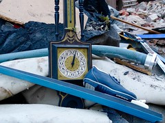 Time for skiing (travel Jam) Tags: lostandfound clocks constructionarea ski