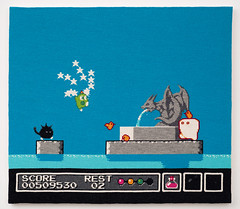Gimmick (2012) (perfhager) Tags: perfhager steneprojects contemporaryart gaming craft needlepoint embroidery handmade 刺繍 ゲーム 美術 現代美術 クラフト ハンドメイド アート