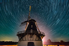 Revinge Kvarn (claustral) Tags: longexposure mill windmill night stars skne sweden trails startrails 2015 interestingness79 i500 revingehed revingekvarn explore20150824