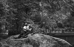 Day in a park (bat0urav3) Tags: park nyc blackandwhite love monochrome rock relaxing sharing resting enjoying enjoyment dayoff timeoff