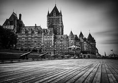 Quebec City Promenade 2015- (DavidGuscottPhotography) Tags: longexposure hotel quebec promenade chateaufrontenac