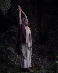 Priestess (the apostrophe) Tags: portrait woman fern wet girl dark bush rainforest country naturallight hills fantasy pagan gully marija thedandenongs