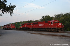 CP EMD Power (258 & D11) (Trucks, Buses, & Trains by granitefan713) Tags: railroad yard canadianpacific cp freighttrain emd gp382 gp402 sd60 electromotive mixedfreight emdsd60 emdgp382 emdgp402 sunburysub yardpower cpsunburysub