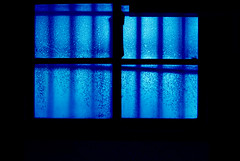 DUST (YOUANDMEORUS) Tags: leica old window glass colored aged dust coloured exist bluish theblues uptothesky leitzgermany tetsuyamiyamori