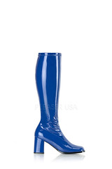 $61.99 – Navy Blue Chunky Heel GoGo Boots Patent Faux Leather (shopsmileprize) Tags: blue leather boots navy faux heel gogo chunky patent – 6199