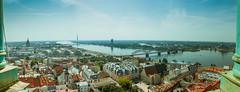 Riga (N-Sarn) Tags: sea panorama tower church river baltic latvia steeple unesco spire riga stpeter worldheritage 6stitchedimages