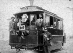 "Baldwin steam tram 78 ""The last tram from Leichhardt to Parramatta"". ""Cowcatcher"" attached to front, c. 1890 / unknown photographer (State Library of New South Wales collection) Tags: trams statelibraryofnewsouthwales"