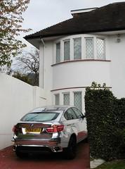 Chromed BMW X5 (#RawNigga Indahouse) Tags: auto uk england london car chrome german bmw custom britian x5 customised chromed