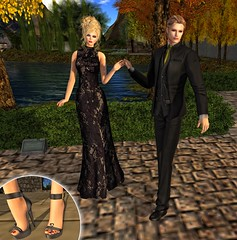 Sabrymoon and Spice wearing FashionNatic Philomena and Alden outfits (Two Too Fashion) Tags: fashion pants tie jacket secondlife longdress highheelsshoes elegantdress fashionnatic philomenaoutfit aldenoutfitblack