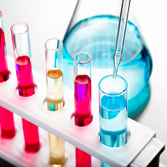 Test tubes (Krunja) Tags: blue test white color green industry toxic water glass yellow lab flask technology background tube tubes experiment science drop testing equipment medical fluid pharmacy health research chemistry laboratory instrument drug sample medicine transparent discovery biology liquid microbiology tool solution isolated beaker biotechnology chemical testtube pipette analysis scientific glassware pharmaceutical pharmacology