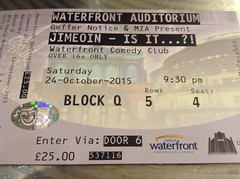Jimeoin in Belfast (conall..) Tags: waterfront ticket belfast jimeoin
