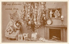 All My Christmas Dreams Came True (Alan Mays) Tags: pictures santa christmas xmas old trees cats brown true animals vintage paper cards toys typography funny holidays humorous comic dolls photos pennsylvania antique humor photographers illustrations ephemera pa stuffedanimals dreams postcards type santaclaus series christmascards lamps greetings amusing christmastrees fonts printed clocks anthropomorphism typefaces anthropomorphic greetingcards fireplaces frees postcardseries montgomerycounty december25 nyce dressedanimals harrywhittierfrees mantles vernfield christmascomics harryfrees genuinefreesanimalseries nycemanufacturingco