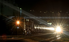 Midnight Express (Tom Marschall) Tags: railroad usa america train washington transport container oil ge bnsf seatlle intermodal gevo es44 es44c4