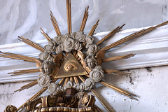 Hondschoote, Nord, Flandres, église Saint-Vaast, altar of 7 sorrows, detail