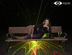 Tania...... (antoniodigital) Tags: roja tania ledaña light painting laser luz linterna retrato