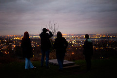 Day Three Hundred and Eight / Year Five. (evilibby) Tags: lauren rob jack lousey halton runcorn skyline sunset bokeh view cityscape silhouette dark friends evening lights project365