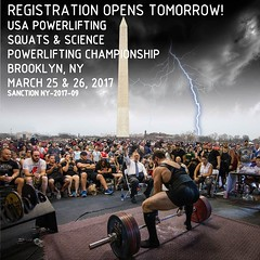 Registration for our second meet opens tomorrow at 8 PM! Make sure you get your registration in before it fills, because spots will not last. All meet info and registration will be at snsbarbell.com/meets #usapl #squatsandscience #snsbarbell (squatsandscience) Tags: registration for our second meet opens tomorrow 8 pm make sure you get your before it fills because spots will last all info be snsbarbellcommeets usapl squatsandscience snsbarbell