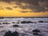 Molten Sunrise in Hawaii Kai (RobertCross1 (off and on)) Tags: 20mmf17panasonic em5 hi hawaii honolulu longexposure omd oahu olympus pacificocean sandybeach beach clouds landscape lava nature ocean rocks sea seascape sky sunrise surf volcanic water waves