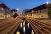 Musée Unterlinden, Colmar, France (Etienne Ehret) Tags: musée unterlinden colmar alsace france nuit night light lumière bleu blue hour heure nikon d750 24mm f28