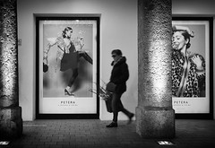 take care (Erwin Vindl) Tags: takecare streetphotography streettogs candid blackandwhite bw monochrome innsbruck erwinvindl olympusomd em10markii