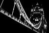 Drawn By Light - Tower Bridge London by Simon & His Camera (Simon & His Camera) Tags: monochrome bw blackandwhite black white dark night london lines lights city contrast curve architecture building bridge iconic outdoor simonandhiscamera tower thames urban