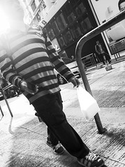 Hong Kong - Faded (yeungyanshek) Tags: bnw photo bw people street city hk streetphotography stripy photography documentray sun sunset light contrast ricoh gr ricohgr downtown streettogs old faded fade walking black white photos