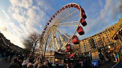 2016.08568a Christmas Fair in Princes Street Gardens, Edinburgh 2016 (jddorren08) Tags: scotland edinburgh christmas christmas2016 christmaslights christmasmarket sonynex5 samyang8mm daviddorren jddorren