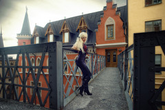 Slussen, Stockholm (DZ-fotografia) Tags: sexy long blonde hair lady slussen stockholm sweden bridge boots