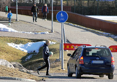 Spring (Linnea from Sweden) Tags: spring football snow car people canon eos 1100d efs 55250mm 456 is