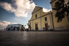 Stromboli 17 (gsamie) Tags: 600d aeolianislands canon guillaumesamie isoleeolie italy rebelt3i sicilia sicily stromboli church city clouds gsamie longexposure piazza street wideangle