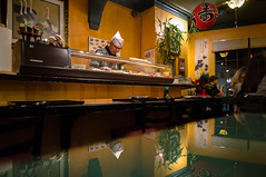 minato sushi (angie pineappletree) Tags: restaurant interior chef halifax novascotia canada japaneserestaurant reflection