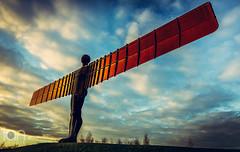 Angel of the North (ianbrodie1) Tags: angel north sculpture antony gateshead newcastle iconic rust statue cloud sunset cloudsstormssunsetssunrises gormley