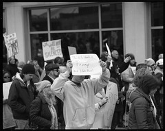 The U.S. took a Trump and didn't flush (thereisnocat) Tags: pentax pentax67 165mm protest womensmarch womensmarchap asburypark monmouthcounty newjersey nj fp4