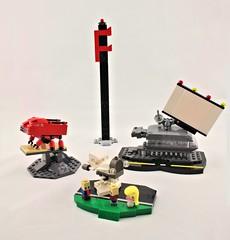 Frank's Discount Frames (Deltassius) Tags: microscale mobile frame zero terrain vingette lego sci fi dealership