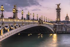 Beautiful Paris (Sizun Eye) Tags: france invalides paris pontalexandreiii sizuneye dusk twilight francja bridge pont monument unesco worldheritage candelabres nikond750 nikon tamron2470mmf28 d750 tamron 2470mm europe seine gettyimages