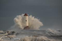 Crashing Waves. (strangequark77) Tags: berwick berwickupontweed lighthouse pier waves crashing wild sea coast coastal northsea stormy northumberland mother nature roughsea rough