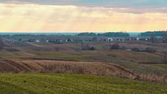 Winter is gone (kondex vs mechagodzilla) Tags: fields field cloud clouds cloudy sea grass grassland poland polska lubelskie lubelszczyzna roztocze hills foothills waves sky sunset