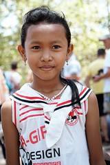 Cambodian girl in Angkor Wat, Siem Reap, Cambodia (adamba100) Tags: asia asian china chinese korea korean mongolia mongolian vietnam vietnamese thai beijing town city view landscape cityscape street life lifestyle style people human person man men woman women male female girl boy child children kid interesting portrait innocent cute charm pretty beauty beautiful innocence face headshot pure purity tourism sightseeing tourist travel trip light color colour outdoor traditional cambodia cambodian phnom penh sony a6300 18105 siem reap pattaya bangkok colonnade architecture column ruins ancient stonework