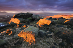The Druid's Seat West Nab (andy_AHG) Tags: landscape photography scenic beautiful landscapes british countryside outdoors rural northern england pennines moors rocks peak district west nab meltham moor wessenden head valley sunrise spring outdoor rock formation saddleworth huddersfield sunset sky