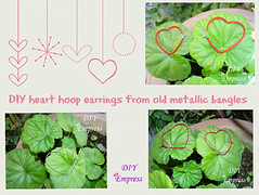 Heart hoops 15 (DIY Empress) Tags: diy earring tutorial easy howto heart reuse refashion fashion make