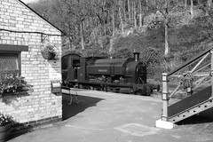 2682-21 (Ian R. Simpson) Tags: 2682 princess bagnall steam locomotive train lakesidehaverthwaiterailway loco engine bw
