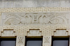 The MidFirst Bank in Chickasha, Oklahoma (kevinellison62) Tags: midfirstbank artdeco architecture building oldbuilding chickasha oklahoma bank carving
