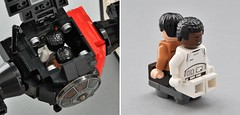 Special Forces TIE fighter (Cockpit detail) (Inthert) Tags: first order special forces tie fighter star wars lego moc force awakens sf space superiority sienar jaemus fleet systems tfa solar panels poe fn2187 pilot ejector seat interior